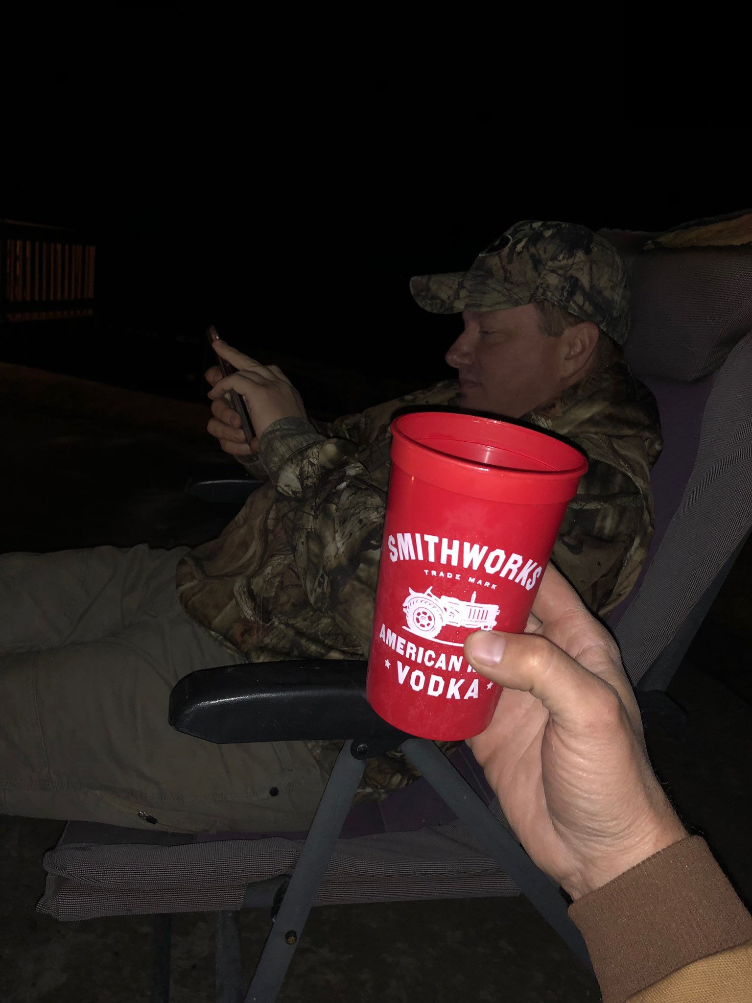 Campfire with my ol' dipshit moron idiot good buddy @MattMorrett.. https://t.co/rX58sQGd34
