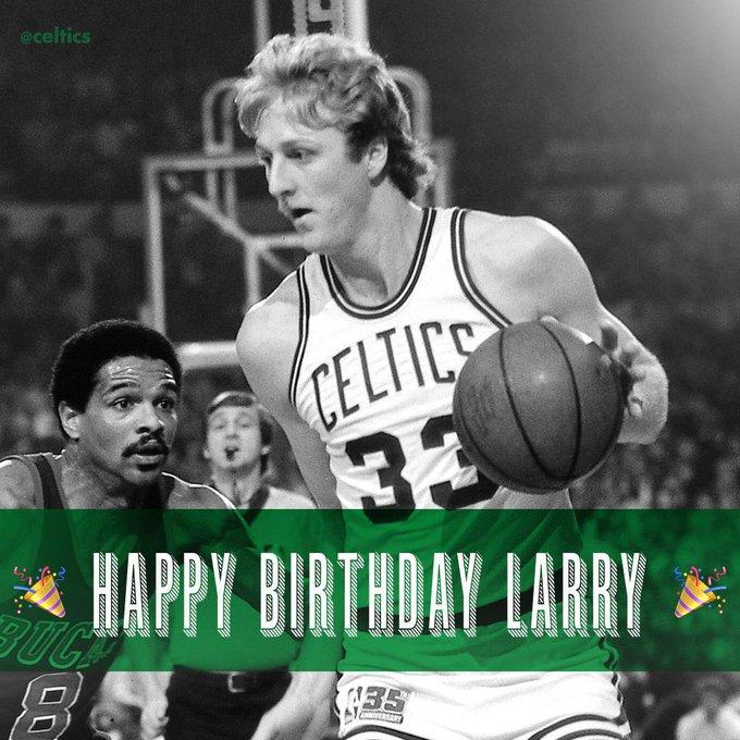Larry Bird will be 62 tomorrow. Happy Birthday!