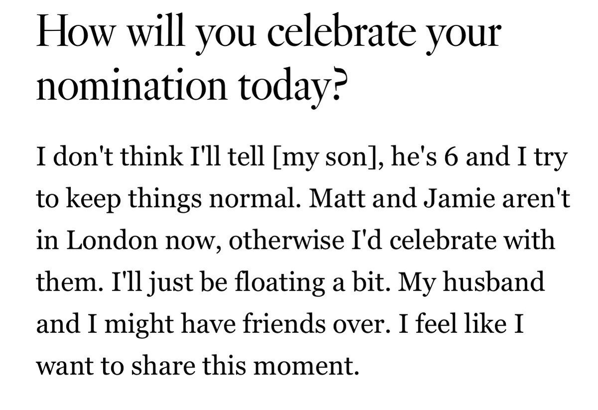 How sweet #RosamundPike wants to celebrate with #MatthewHeineman and #JamieDornan <br>http://pic.twitter.com/DNZX4ncvJc