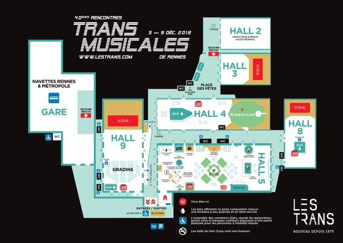 On se retrouve où? Téléchargez le plan du Parc Expo sur #Trans2018 Photo