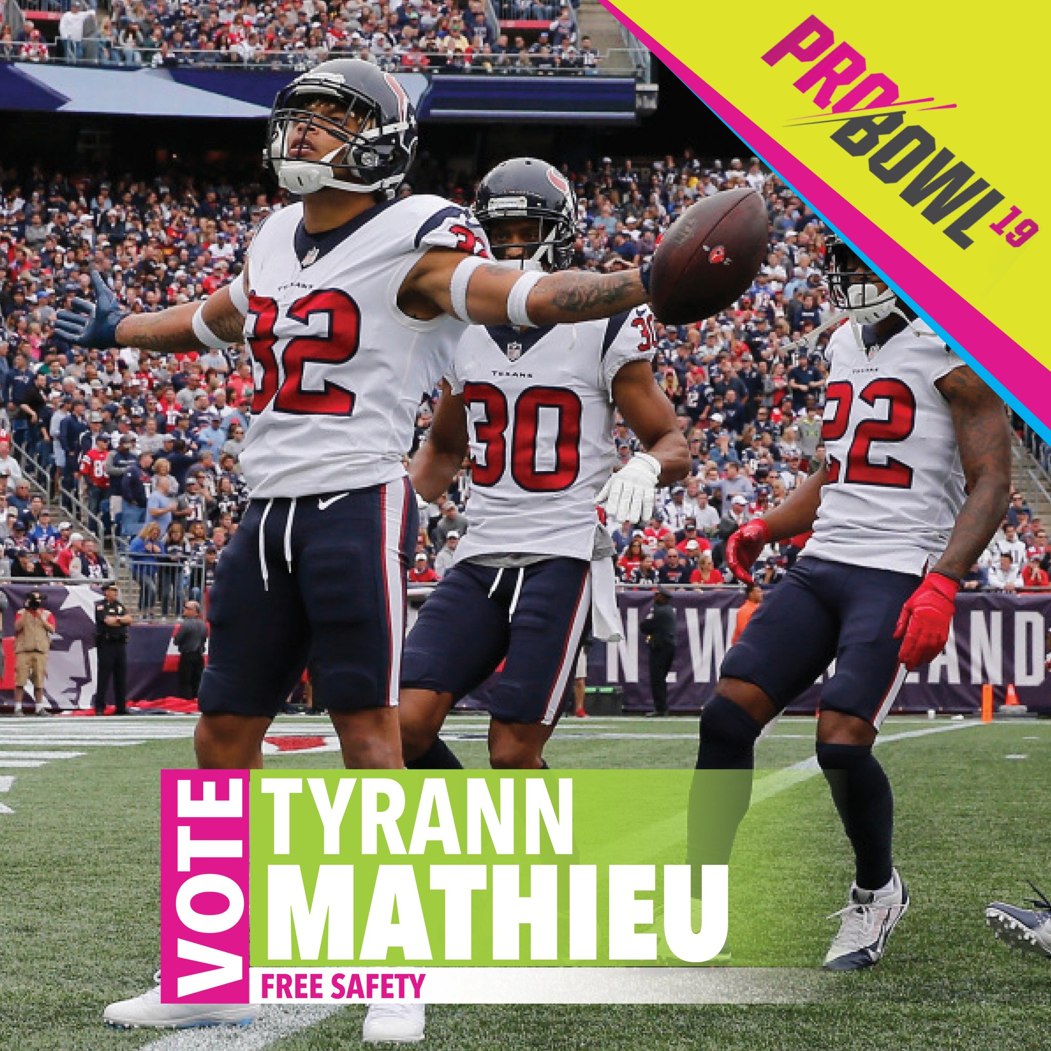 RT to vote TYRANN MATHIEU !! #ProBowlVote https://t.co/tJEugIzt1P