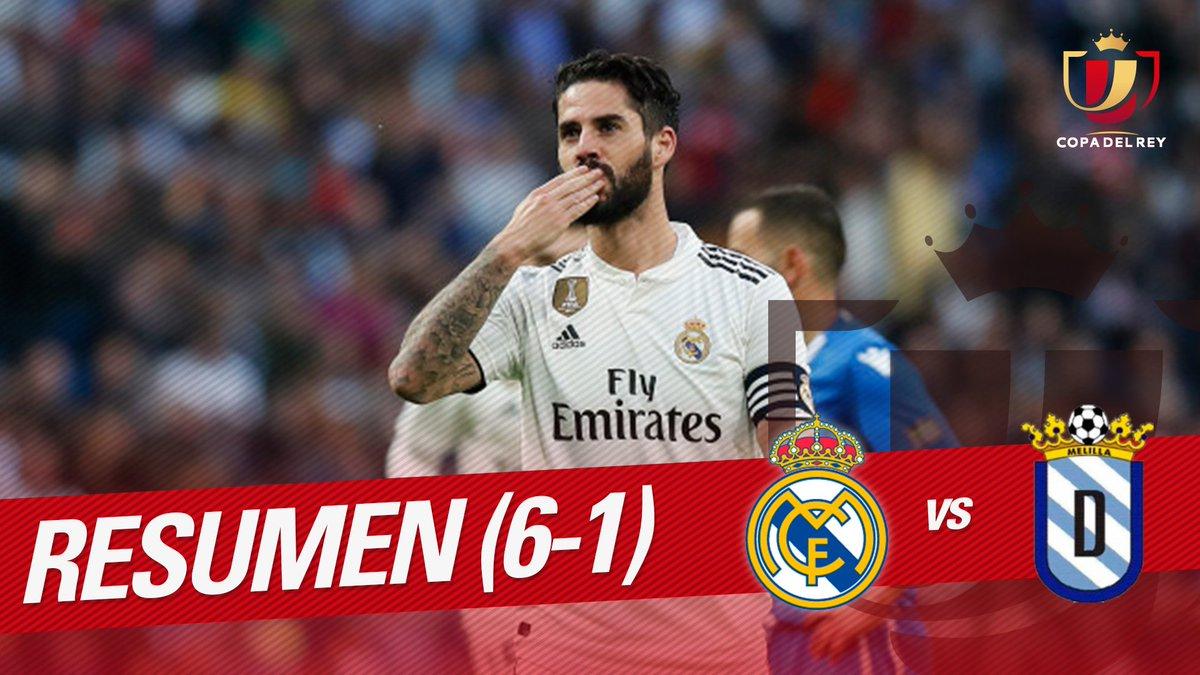 RESUMEN #RealMadridMelilla  ⚽⚽ El @realmadrid se dio un festín de goles ante la @UDMelilla  📹 Disfruta con la goleada del equipo blanco 👉  http://youtu.be/sW7EfddsA9I