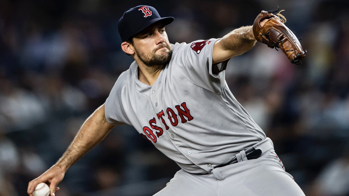 The Boston #RedSox today signed RHP Nathan Eovaldi to a four-year contract through the 2022 season. The club's 40-man roster is now at 40. <br>http://pic.twitter.com/Hq5i74d0Xr