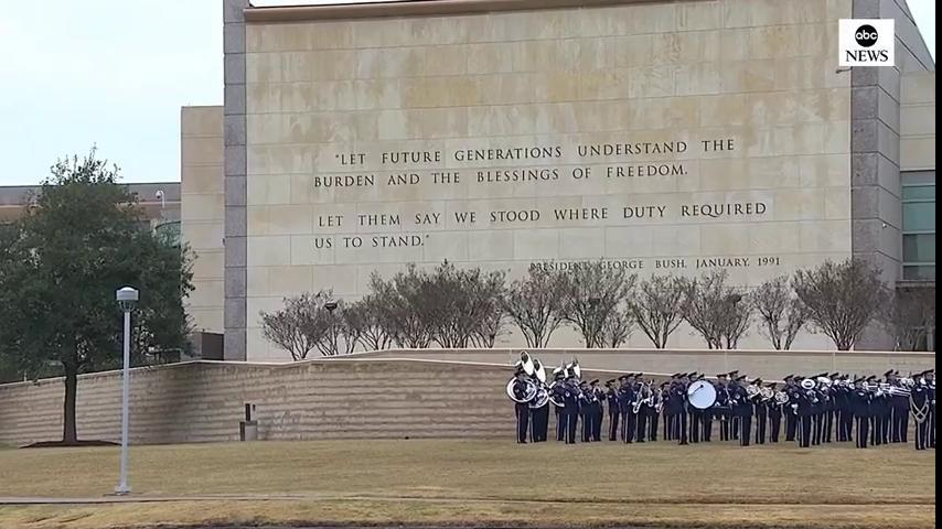 'Let future generations understand the burden and the blessings of freedom,' reads inscription on George Bush Library and Museum as George H.W. Bush is laid to rest. 'Let them we stood where duty required us to stand.' https://t.co/GVUtvaVWZW #Remembering41