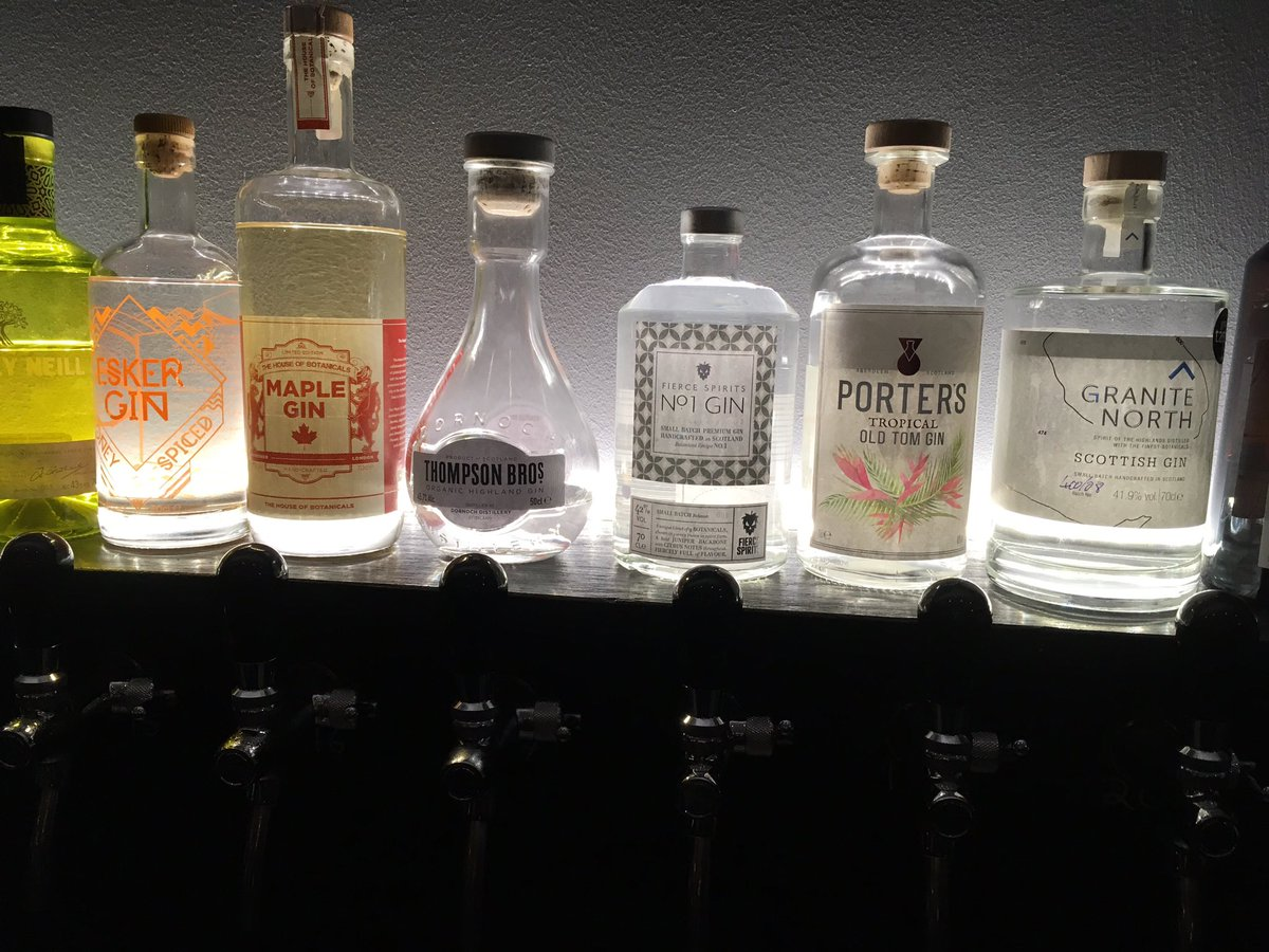 Image for Nice gin selection @FierceBarABZ https://t.co/oVYrlakrea