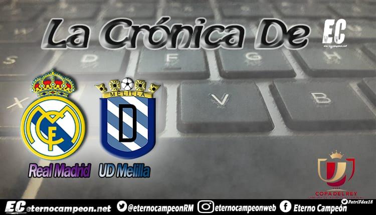 Crónica | Real Madrid 6-1 UD Melilla http://eternocampeon.net/cronica-real-madrid-6-1-melilla… Por: @boticario_81 Diseño: @PatriFdez18 #RMCopa #HalaMadrid #CopaDelRey