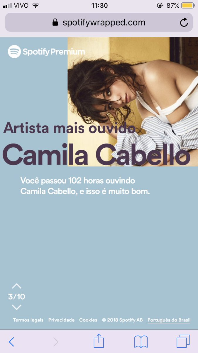 nathalia MET CAMILA's photo on #SpotifyWrapped2018