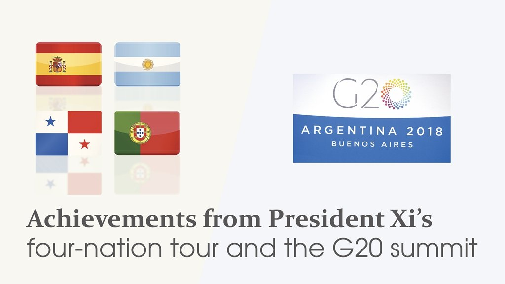 Graphic: Achievements from President #XiJinping's four-nation tour and #G20Argentina summit https://t.co/iRhrj8Jswx