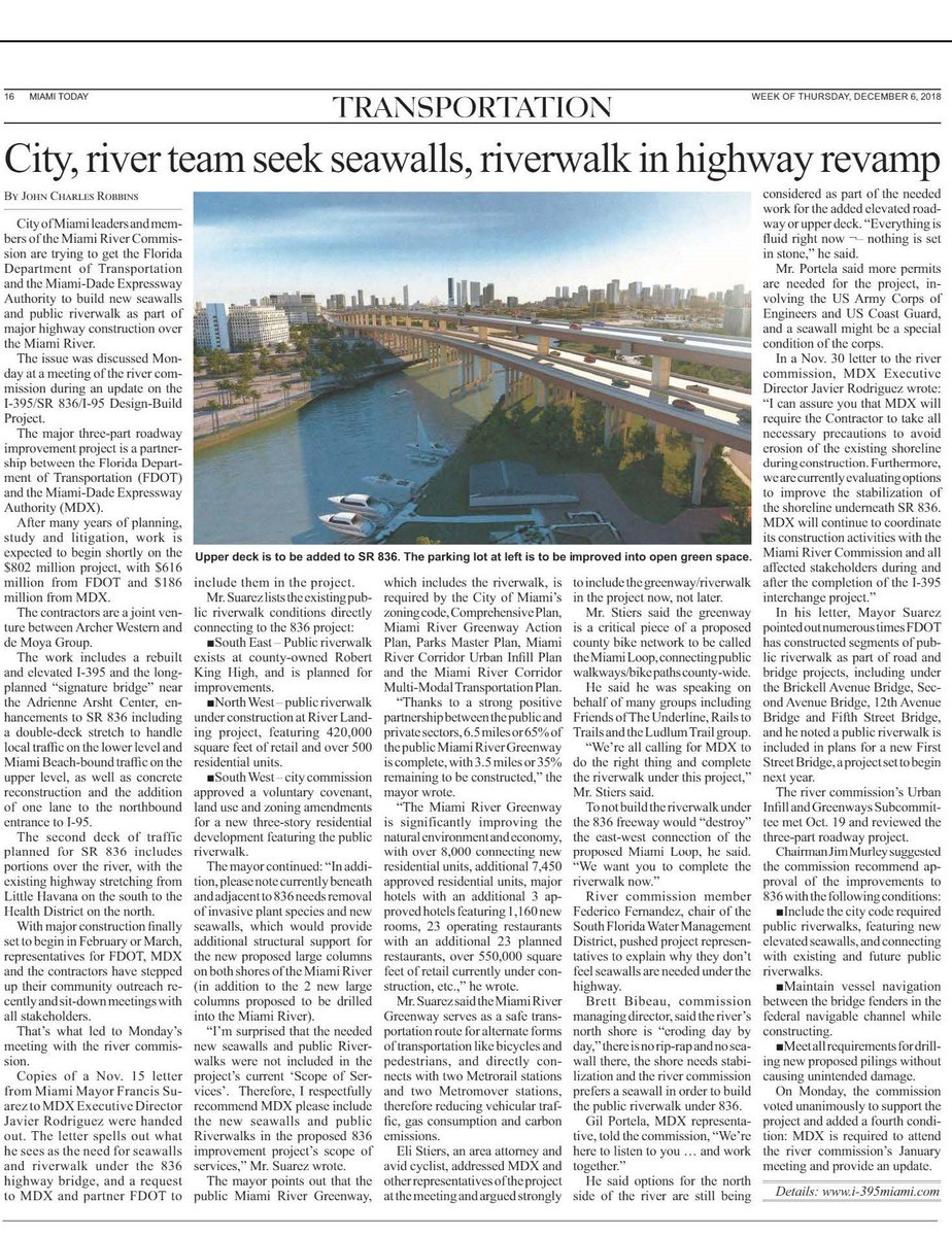"""Happy to lend a hand to this group effort! """"Mr. Stiers said the #greenway is a critical piece of a proposed county bike network to be called the #MiamiLoop, connecting public walkways/bike paths county-wide"""" @FrancisSuarez @frankieruiz @MiamiRiverGW @theunderlinemia @Ludlam_Trail"""