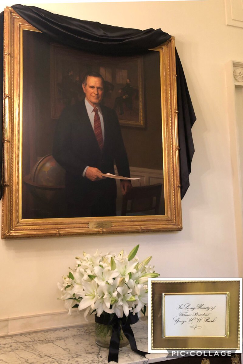 Portrait of President George H.W. Bush at the White House.