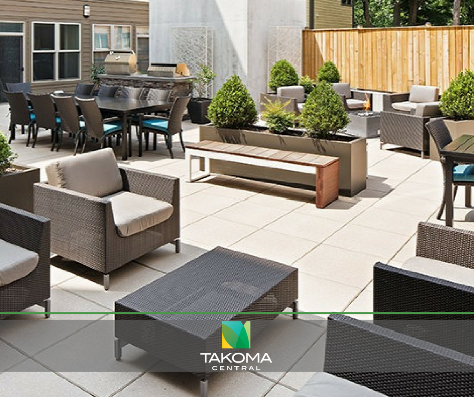 Our private courtyard is a great place to spend an afternoon during the warmer months! We have grills for daytime relaxation as well as fire pits for tranquil evenings.  Check out all of our community amenities at Takoma Central in Washington, D.C. https://takomacentral.com/