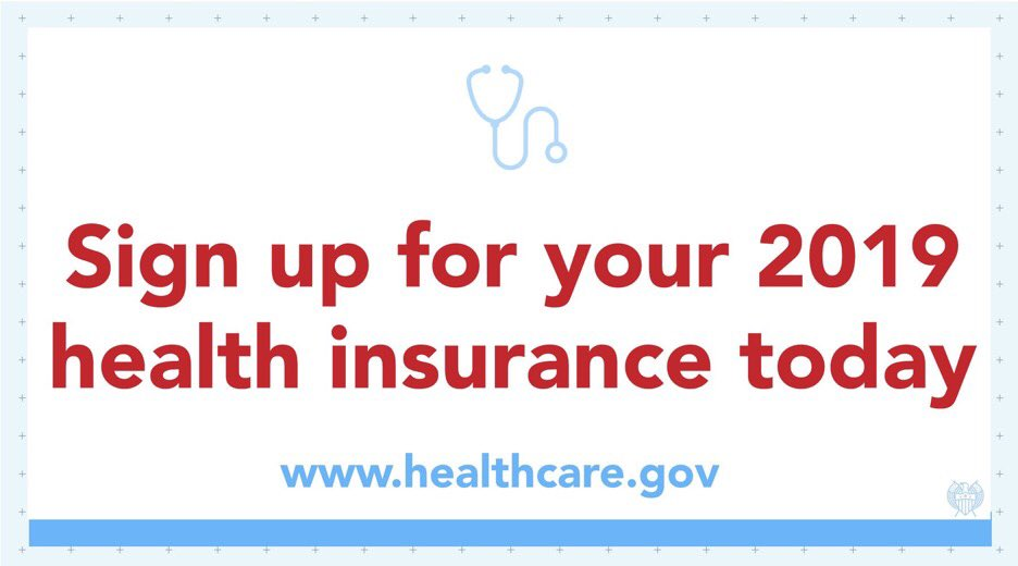 Time is running out!   Head to https://t.co/cEJrIrqFdZ NOW to #GetCovered for 2019. https://t.co/cAPSBB4O6p