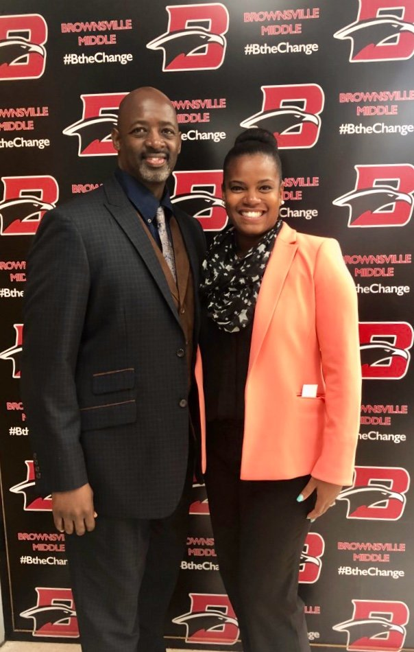 Thanks go out to Ms. Krystal Hernandez for serving as #PrincipalTODAY @brownsvillems. We look forward to an awesome year of partnership<br>http://pic.twitter.com/i26Jsj2VSO