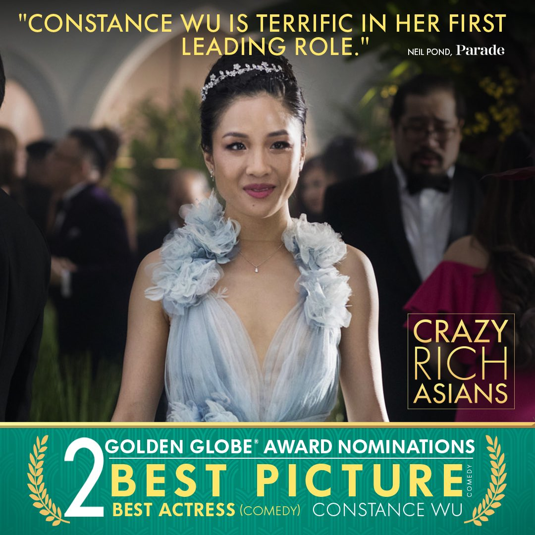 A toast to @ConstanceWu on her #GoldenGlobes nomination for Best Actress, Comedy or Musical for #CrazyRichAsians. Congrats, Constance!<br>http://pic.twitter.com/sfMFZ7ZfQB