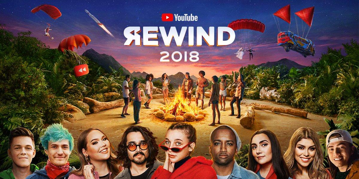 1年を動画で振り返る #YouTubeRewind 2018年版を本日公開。日本からはバイリンガールちかさん、フィッシャーズさん、ヒカキンさんが出演。あなたの一番のお気に入りのシーンはどこですか? @chika_english @FischersHome @hikakin