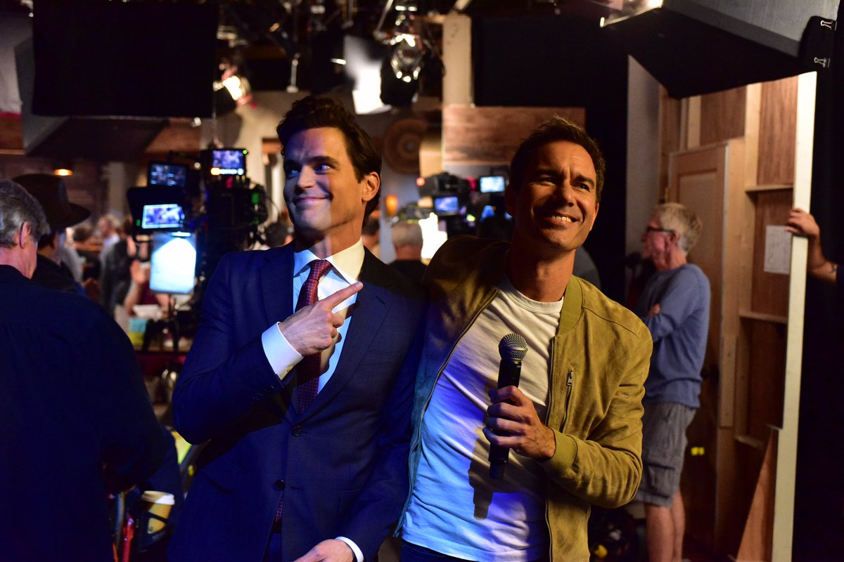 Look who Will gets to play with tonight!! @MattBomer makes us all swoon on tonight's #WillAndGrace at 9/8c!! @nbc @SeanHayes @DebraMessing @MeganMullally<br>http://pic.twitter.com/h1x00M9Wv7