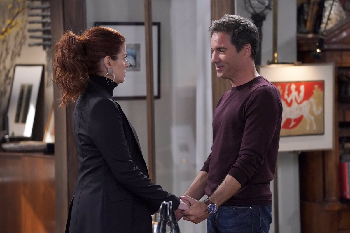 #WillAndGrace starts in ONE HOUR. Come join my Golden Globe nominated pal @DebraMessing and me at 9/8c! @nbc<br>http://pic.twitter.com/sUElt1D7Hk