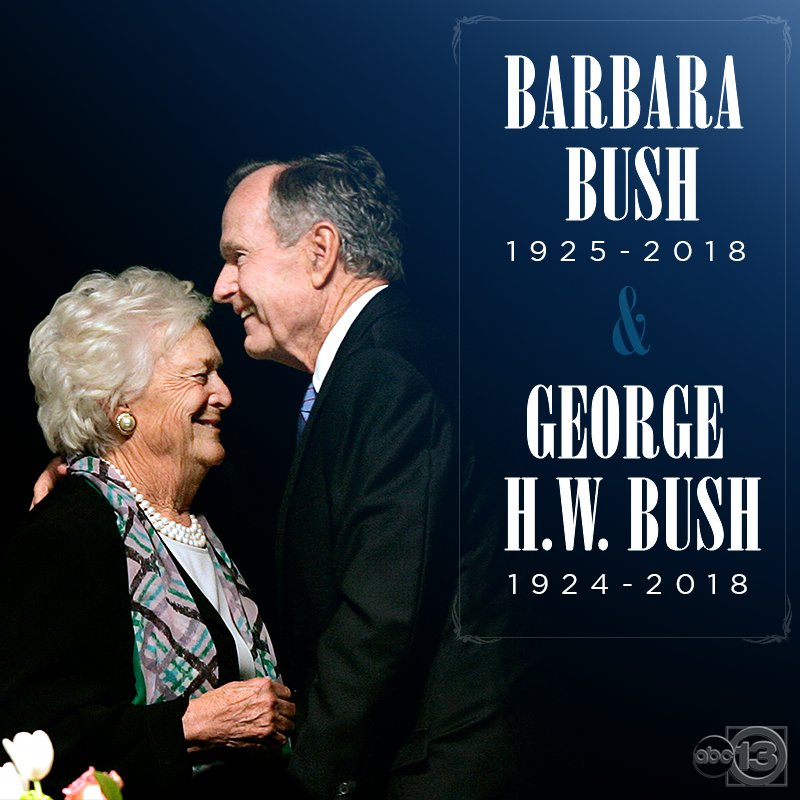 Mr. and Mrs. Bush, now together again | https://t.co/aNiBtx5Iaz #Remembering41