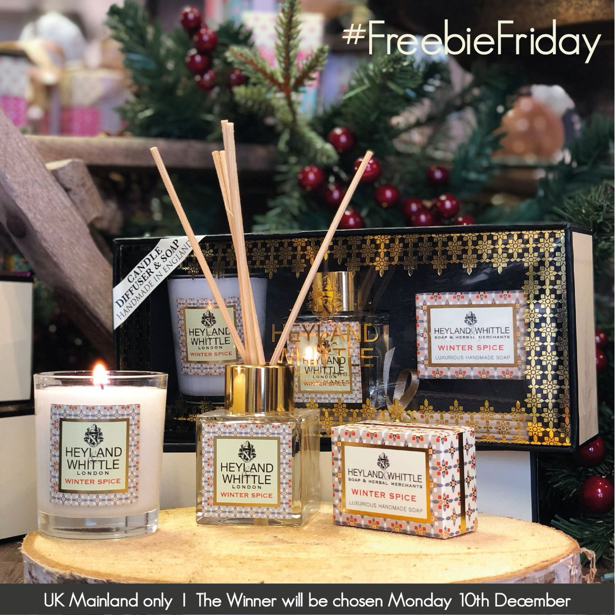 Happy #FreebieFriday! For you and your friend we are giving away 2 Winter Spice Gift Boxes. To enter, like this post and tag a friend. Best of luck to all! #LikeToWin #Giveaway #HomeFragrance #TagAFriend #Competition #CompetitionTime #GiftIdeas #GiftForEveryone #RoomScent<br>http://pic.twitter.com/zQA8A9kTSI