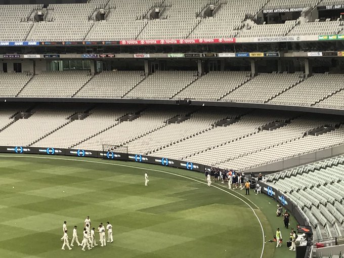 So special for so many reasons. @maddo53 leaves the MCG unbeaten on 159 on debut for @VicStateCricket in #SheffieldShield cricket. Photo