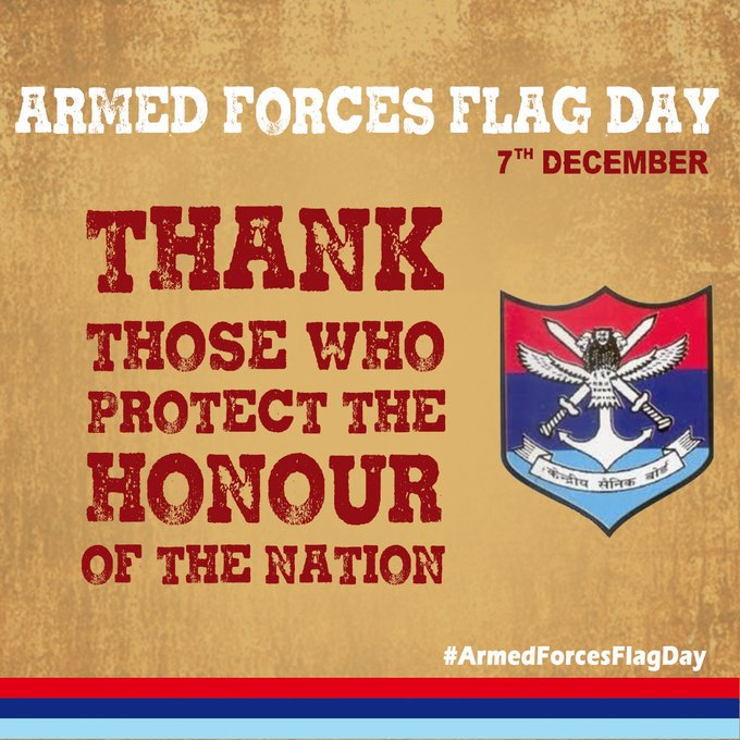 We can never express our gratitude enough towards the sacrifices our soldiers make for India. However, we can honour their valour and martyrdom by celebrating the #ArmedForcesFlagDay today. Let us also contribute generously towards the AFFD fund. Visit Photo