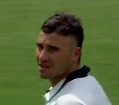 50 for Maxwell, batting beautifully. Meanwhile: Mattingly! I thought I told you to trim those sideburns! #SheffieldShield Photo