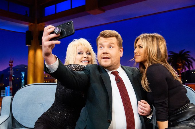 The most fun from every angle!! 😉 Catch me and Jennifer tonight on the @latelateshow! #DUMPLIN Photo