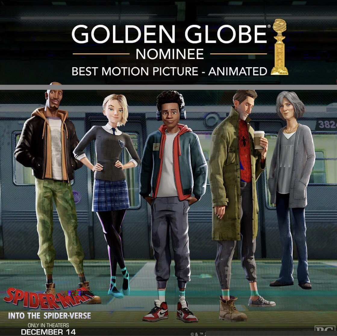 Thank you to the members of the Hollywood Foreign Press for recognizing this story that I am so grateful, proud and honored to be a part of!!  #SpiderVerse  #SpiderGwen  @SpiderVerse @goldenglobes<br>http://pic.twitter.com/YS31RIRijq