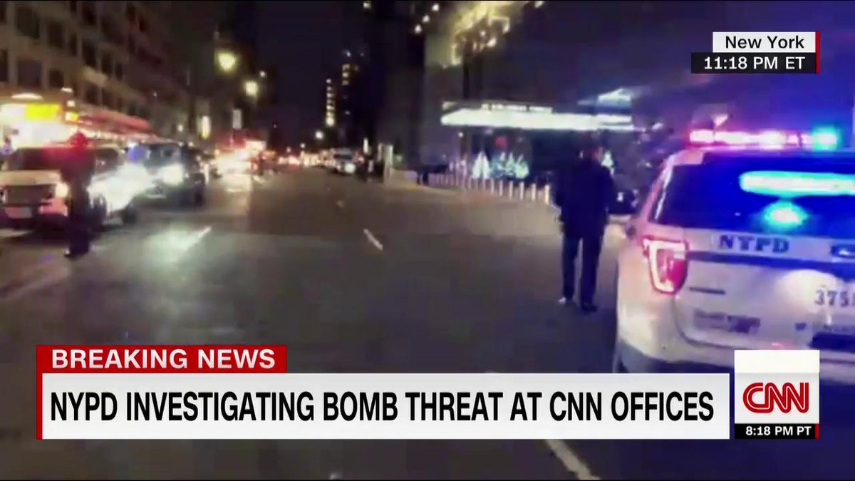 CNN U.S. is back live, @donlemon reporting as NYPD investigates bomb threat at CNN New York offices