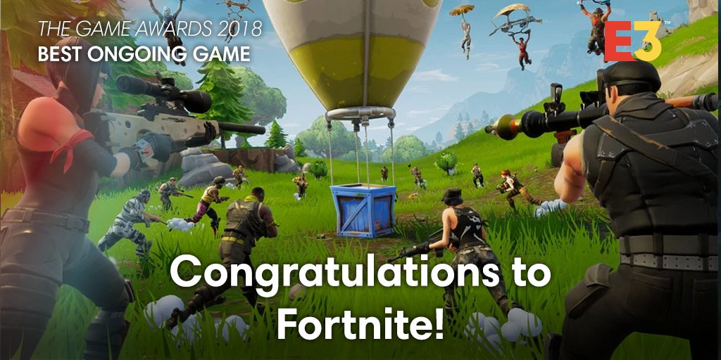 E3 On Twitter Congratulations To Fortnite For Winning Both Best