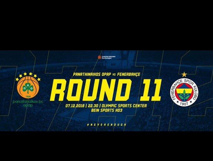 Dünyanın en güzel takımının maçı var Fenerbahçemliler 😃😍😍💙💛💙💛💙💛💙💛 #NeverEnough #Round11 @FBBasketbol Amor Amor💙💙 Fotoğraf