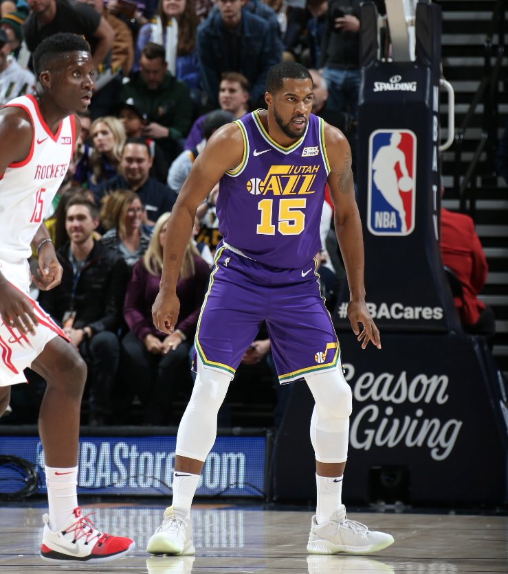 Derrick Favors comes off the bench and records 24 PTS, 10 REB to help the @utahjazz win in Salt Lake City!  #TeamIsEverything 118 #Rockets 91  Joe Ingles: 18 PTS, 6 REB Ricky Rubio: 13 PTS, 6 AST Dante Exum: 15 PTS, 5 AST