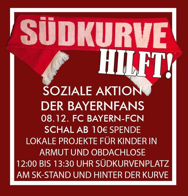Spendenaktion der Südkurve rund um das Derby gegen Nürnberg! 🇮🇩 #FCBFCN #packmas Foto