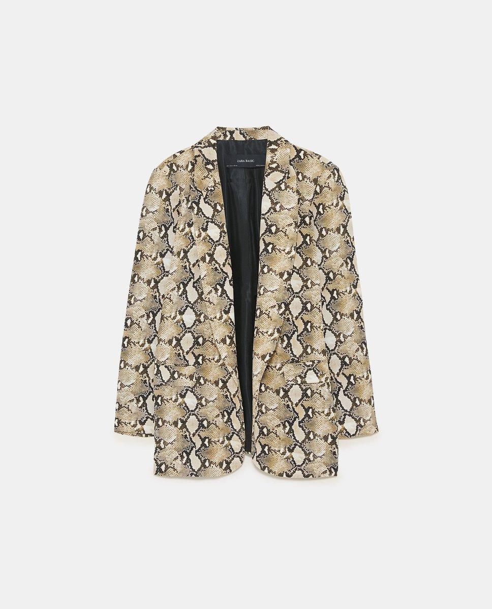 Snakeskin print blazer