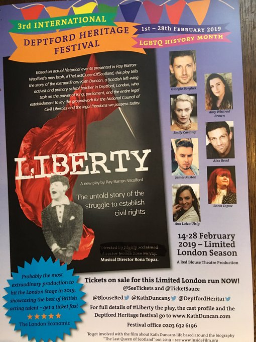 @bbclaurak Clearly people confused ! They could do better and buy tickets 4 #Liberty the must go see stage play of 2019 Photo