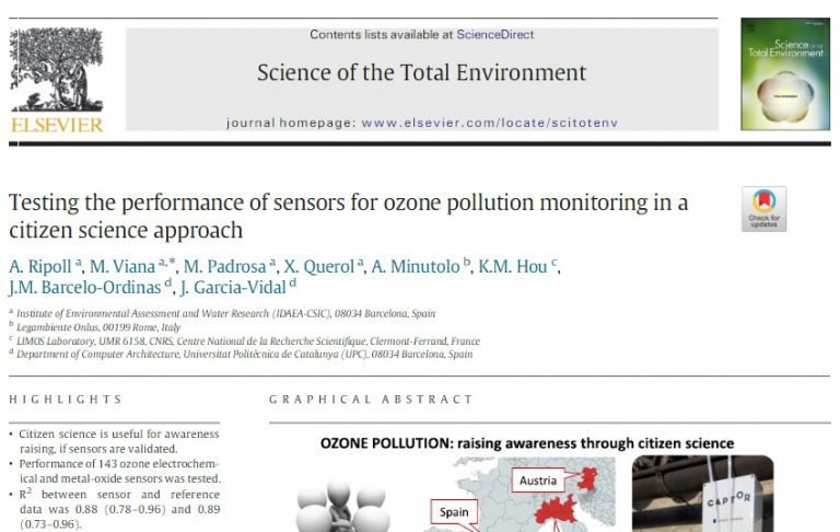 "test Twitter Media - ""Testing the performance of sensors for ozone pollution monitoring in a citizen science approach"" available in @sciencedirect. Main findings about the performance of sensor technologies used by #CAPTORproject  ➡️ https://t.co/KoTFHwRZHD https://t.co/UmhDWdXyy5"