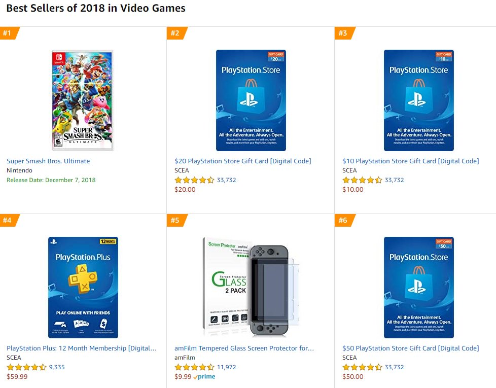Smash is #1 Selling Item in Video Games on Amazon for 2018