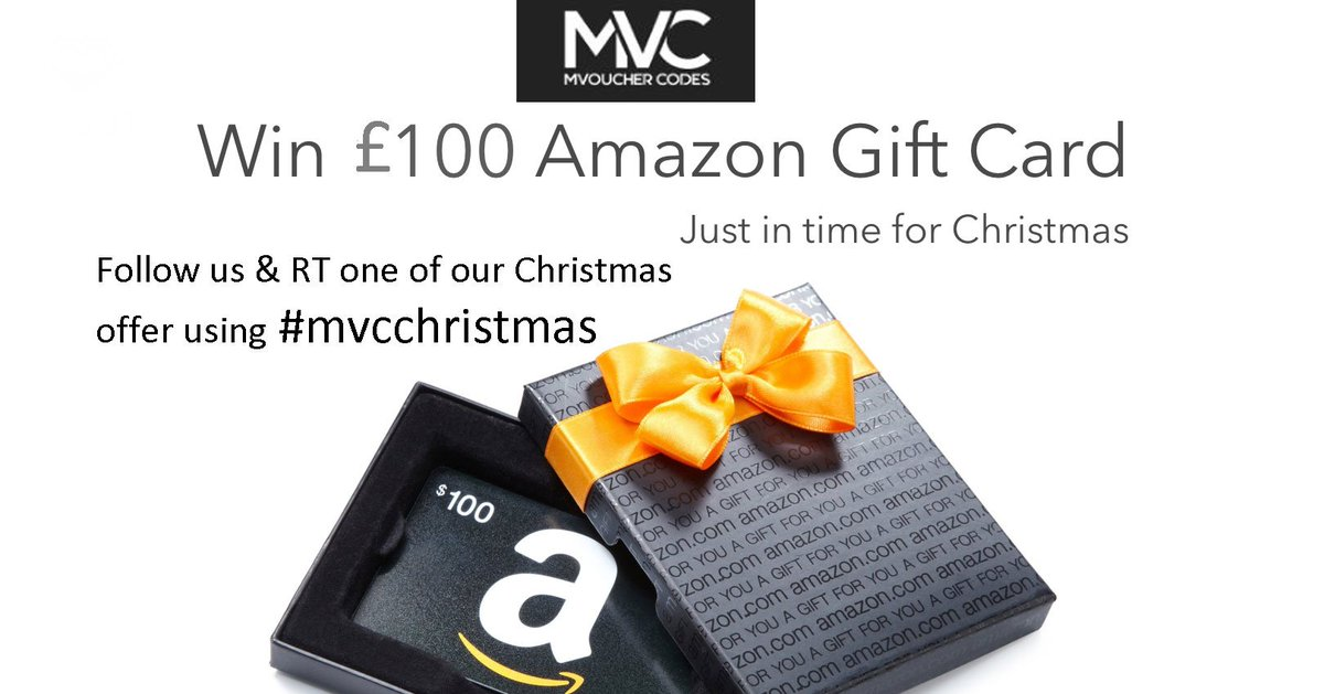 Happy #FreebieFriday! #COMPETITION Win a £100 Amazon voucher. To enter, Just follow @mvouchercodes1 RT &amp; ( Visit:  http:// bit.ly/2rq0GmE  &nbsp;    ) use #mvcchristmas Best of luck to all. #LikeToWin #Giveaway #TagAFriend #CompetitionTime #Win #ChristmasGift #Christmas #Christmas2018<br>http://pic.twitter.com/IFcqkG4Ak0