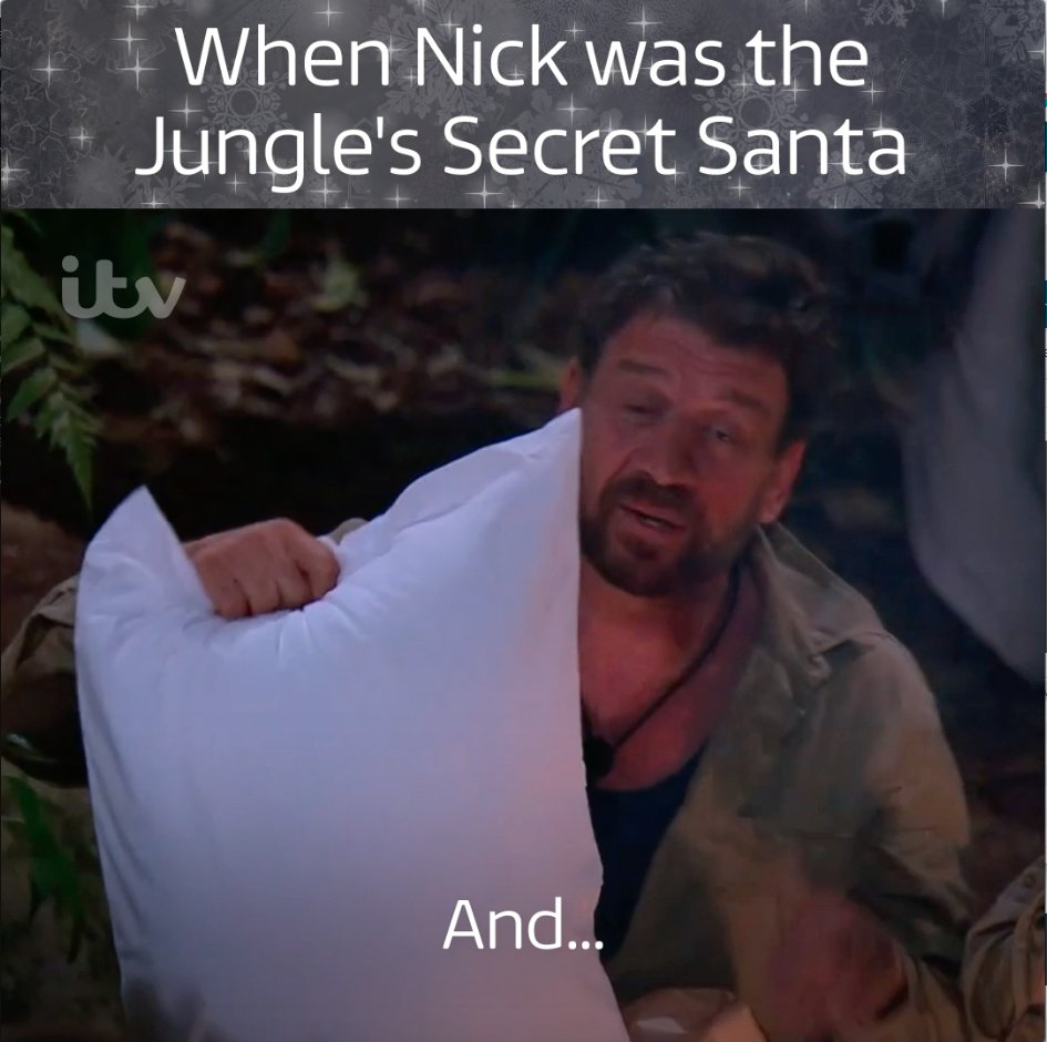 Nick Knowles, a true Christmas gent 🎅❤️@MrNickKnowles @ImACeleb #ImACeleb