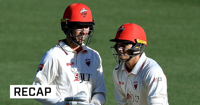 Tom Cooper and Alex Carey lead Redbacks fightback on see-sawing day against NSW at the SCG: #SheffieldShield Photo