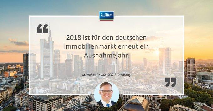 Wie lange hält das Hoch an?<br><br>Ein Rekordjahr für die #Immobilien-Märkte in Deutschland neigt sich seinem Abschluss und die Prognosen für 2019 sind ebenfalls rosig. Wie die Aussichten für die einzelnen #Assets sind, lesen Sie hier:  t.co/EEtkDcoQ6y
