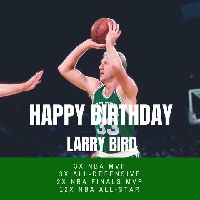 Join us in wishing Larry Bird a HAPPY 6 2 nd BIRTHDAY!