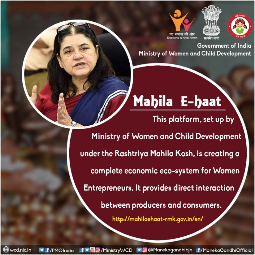 Smt. @Manekagandhibjp on the essence of #MahilaeHaat.  Support this significant initiative of @MinistryWCD towards making Women self-reliant. Buy niche products at: http://mahilaehaat-rmk.gov.in/en/