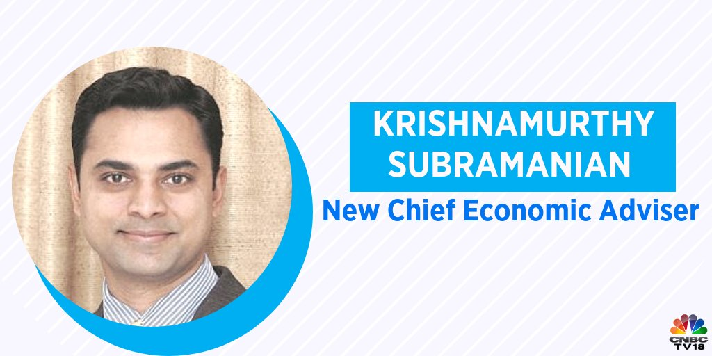 Govt appoints Krishnamurthy Subramanian as Chief Economic Adviser for 3 years