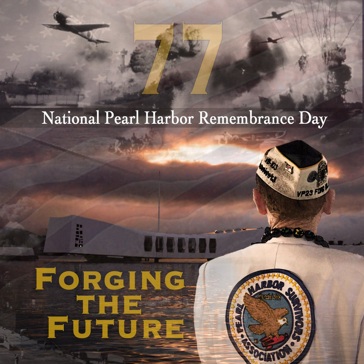 Today we reflect on the events of Dec. 7, 1941, honor those we lost, and thank all who fought in WWII to forge the peace, stability and prosperity that followed. #PearlHarbor77 #NeverForget