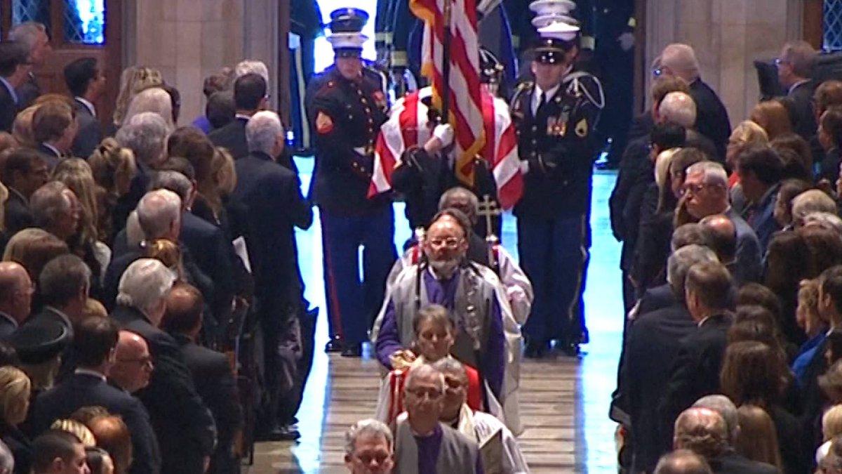George H.W. Bush Remembered at Washington National Cathedral #Bush41 https://t.co/53PUpYoEeX