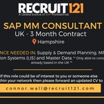 Image for the Tweet beginning: *** SAP MM CONSULTANT ***  If