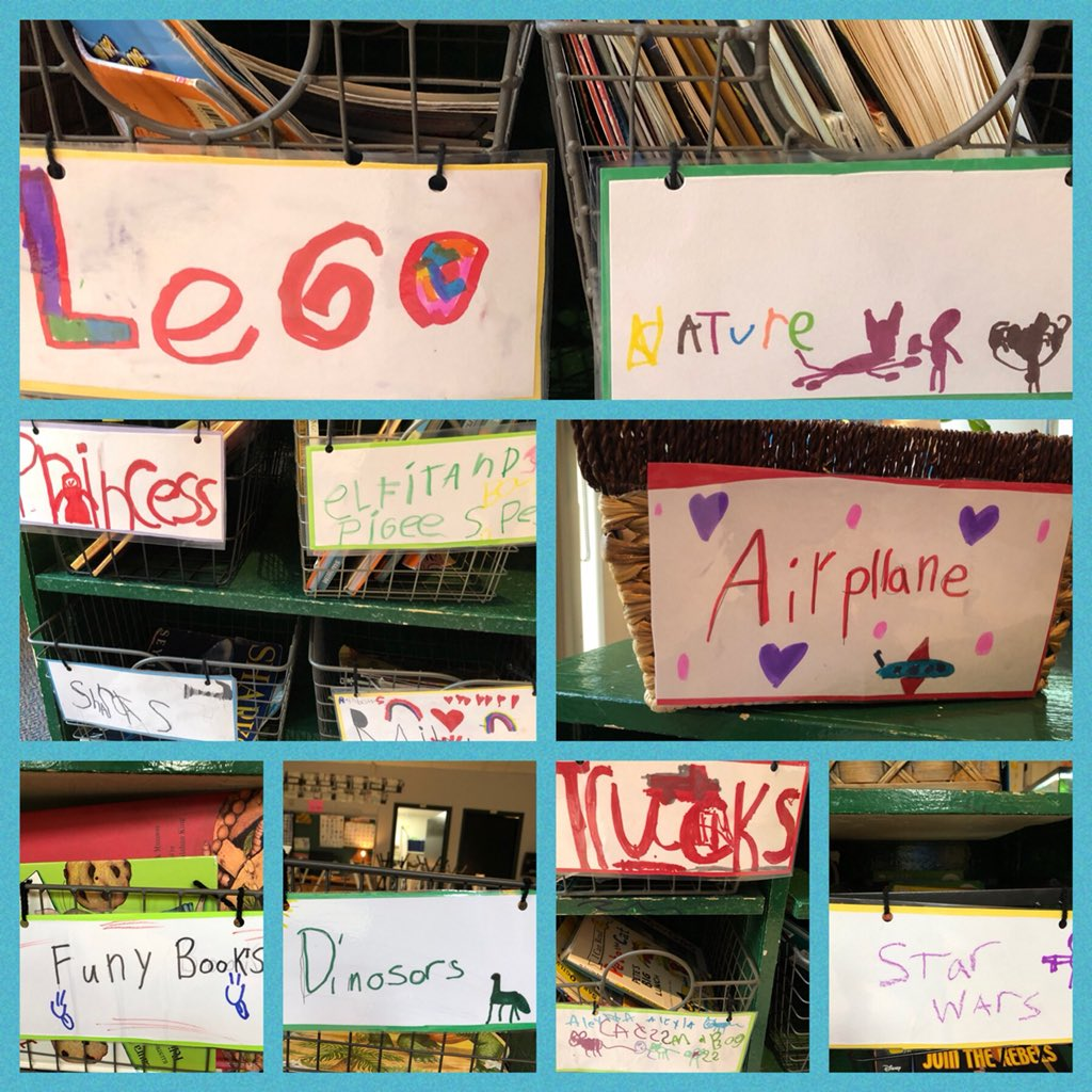 Handing over ownership of our class library to Ss was a change for me this year. They sorted all of the books, came up with the genre labels, and now treat the entire space very differently. I loved how they really examined each book as they were sorting.#bfc530 <br>http://pic.twitter.com/hFJ1kXElgq