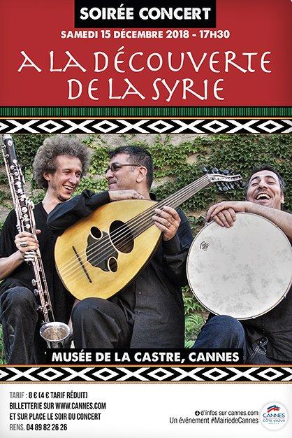 Pour ceux qui ne connaissent pas encore la musique syrienne, on vous prévient, vous risquez d'en tomber amoureux !   Avec la visite exclusive de la nouvelle salle Syrie du #MuséeDeLaCastre en guise de mise en bouche...   📆 Le 15 décembre.   Infos ➡ https://bit.ly/2QBONZ0