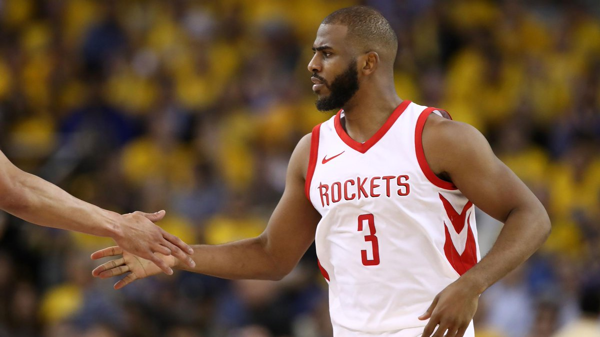 26de8e0a3ea Rockets' Chris Paul out at least two weeks with hamstring injury https://
